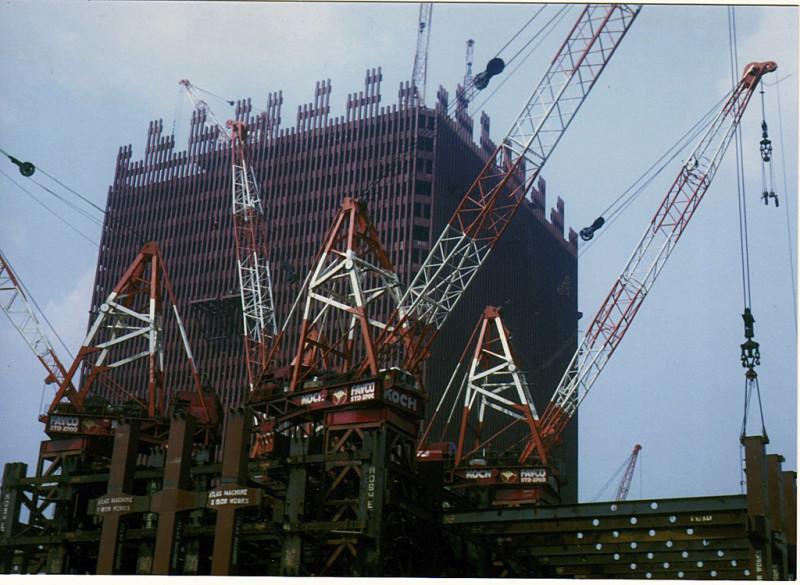 1969 Construction view of the original World Trade Center