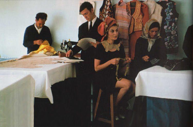 1969 Fashion designer Safia Tarzi in her Kabul studio