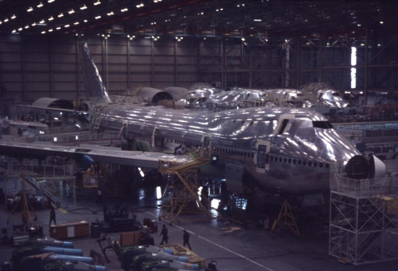 Boeing 747 one of the first built - 26 June 1969 Everett, Wash