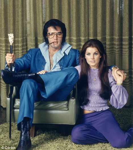 Elvis with his wife Priscilla in 1969