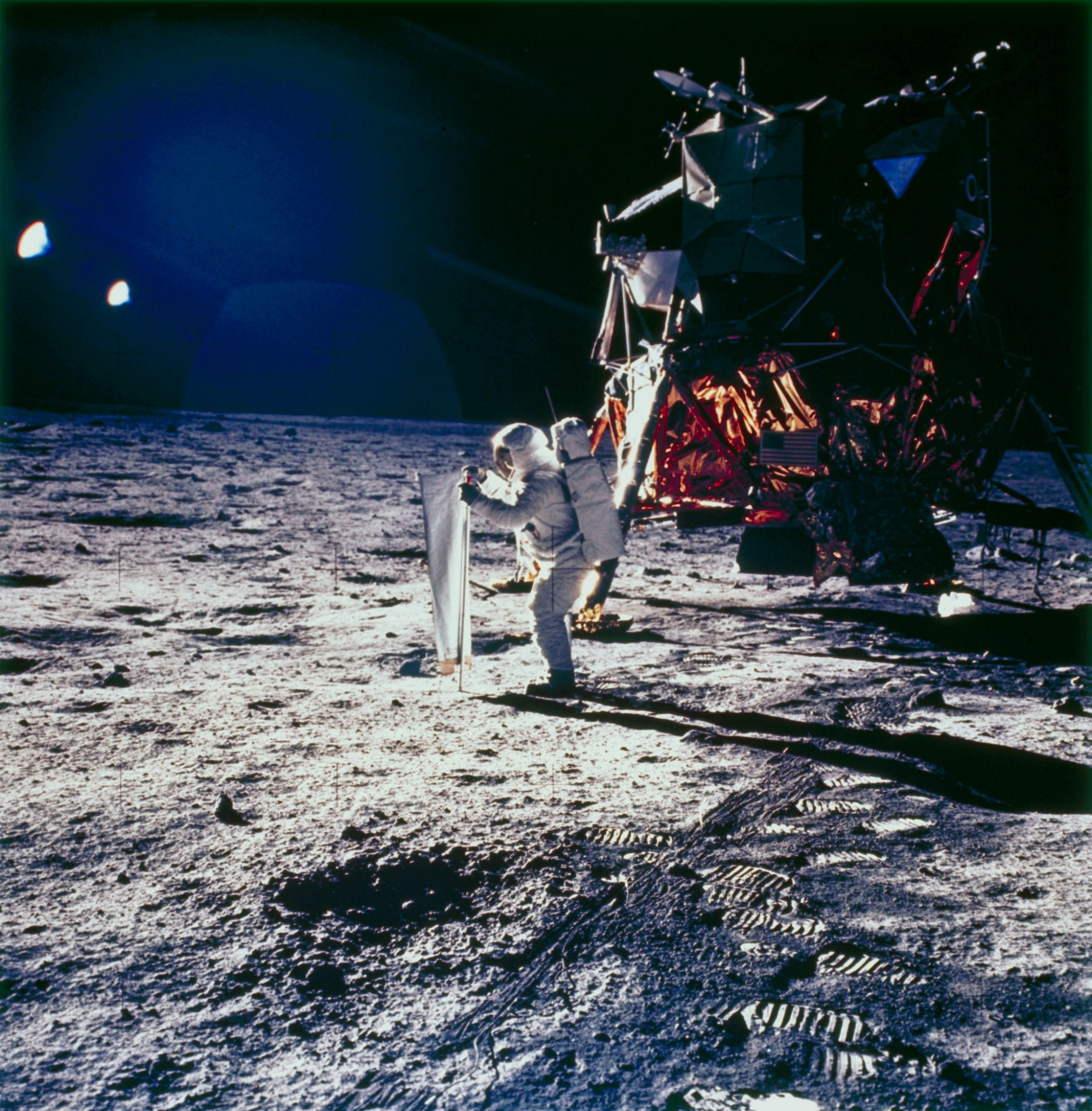 Apollo 11 astronaut Edwin Buzz Aldrin on the Moon, 1969