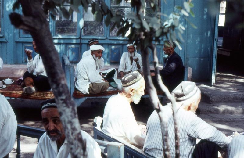 1969 Чайхана в Анджижане. Frank Baumgart