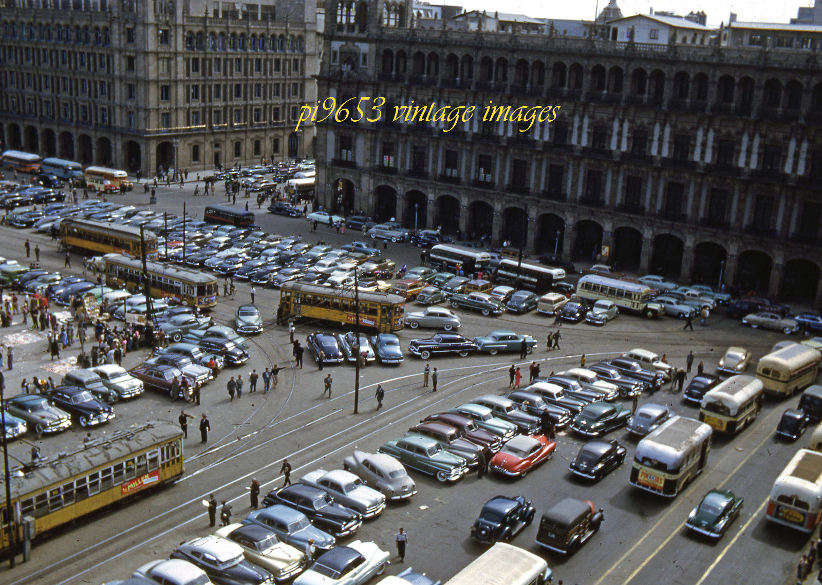 1950s Mexico City  Zócalo Square