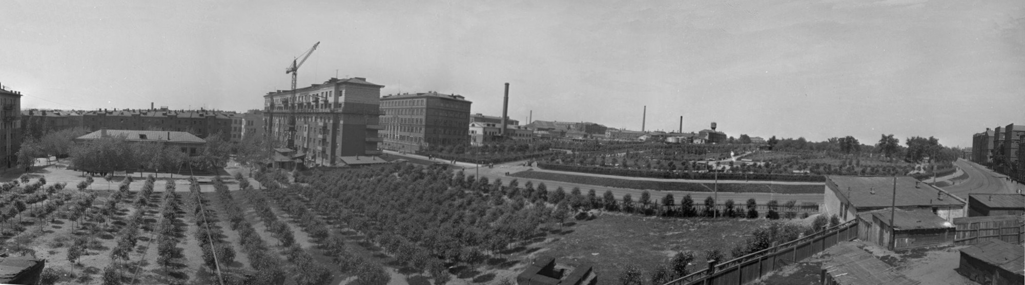 1952 Пресненский район Москвы (панорама). Петков И.5а