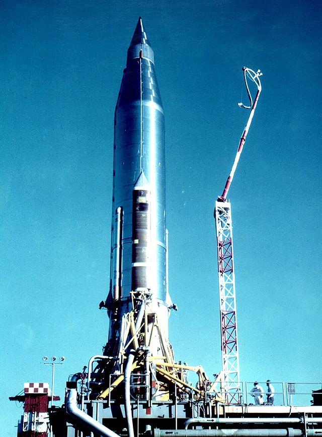 1959 декабрь пуск с мыса Канаверал (штат Флорида, США) межконтинентальной баллистической ракеты Atlas-B