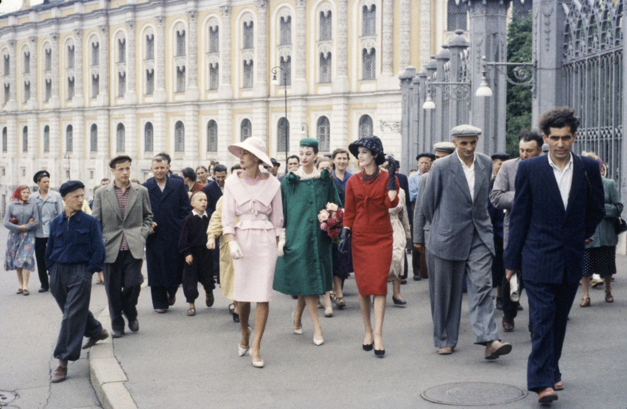 1959 Dior models in Soviet Union for officially sanctioned fashion show visiting GUM deptartment store by Howard Sochurek2