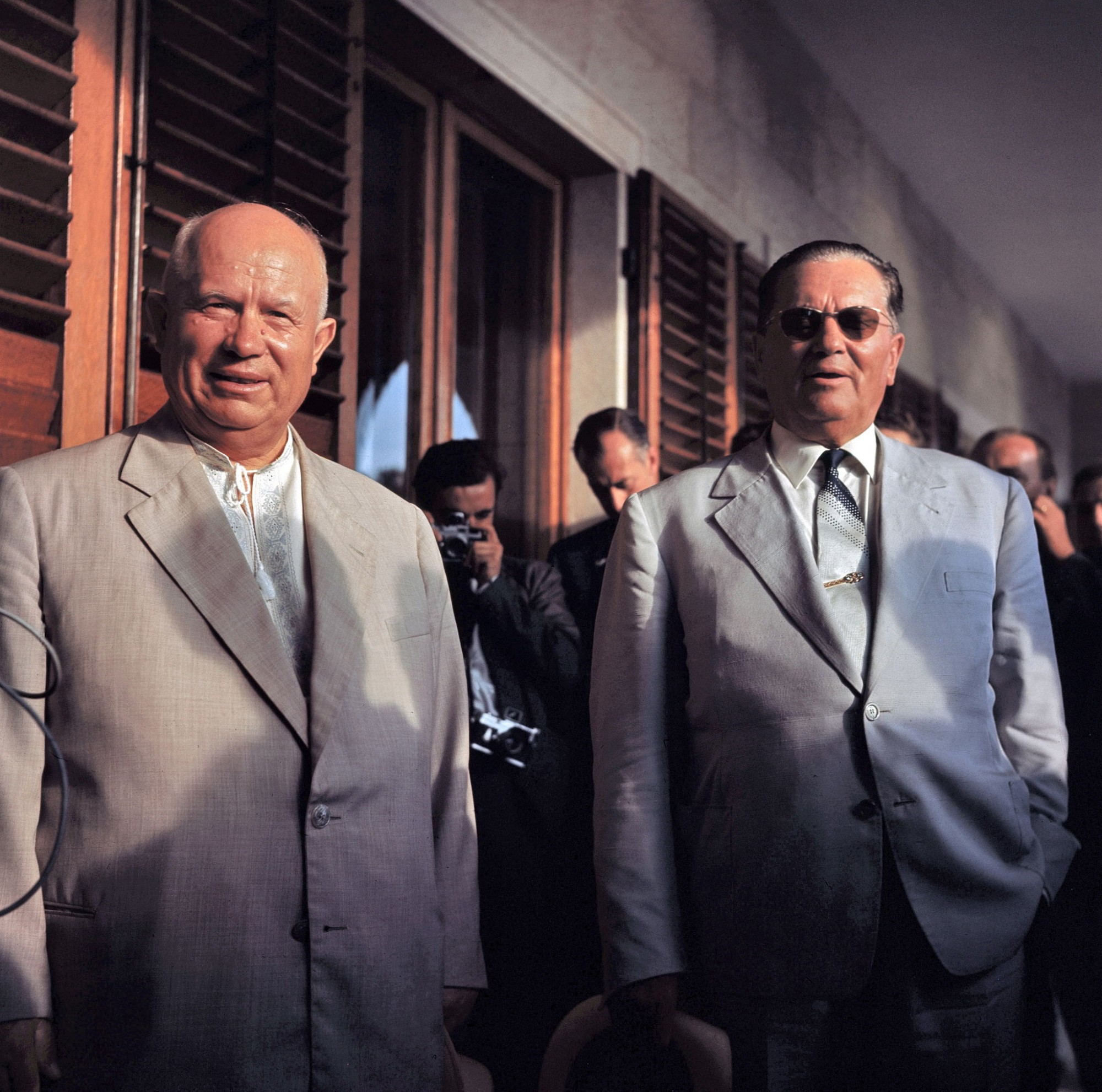 1959 President Tito of Yugoslavia and Russian Leader Nikita Khruschev