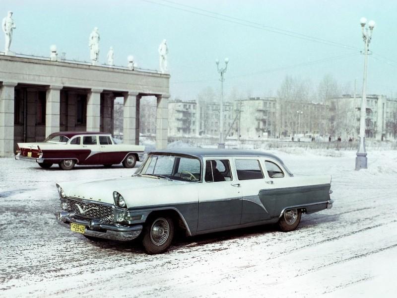 1959 начато производство ГАЗ-13 Чайка, продолжавшееся до 1979
