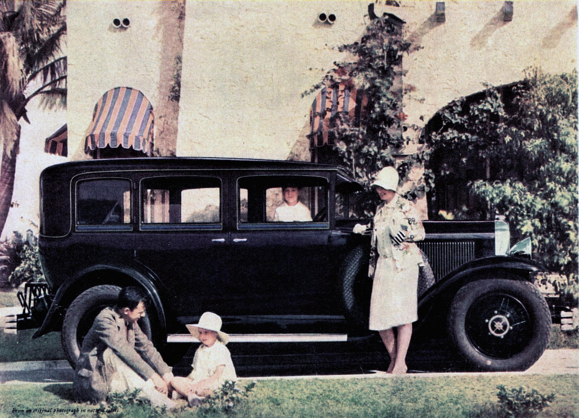 1929 Buick - цветная фотография в рекламе 1929 года