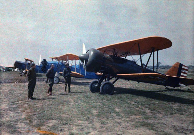 1929 Experimental plans are parked in line at Wright Field in USA by Jacob Gayer
