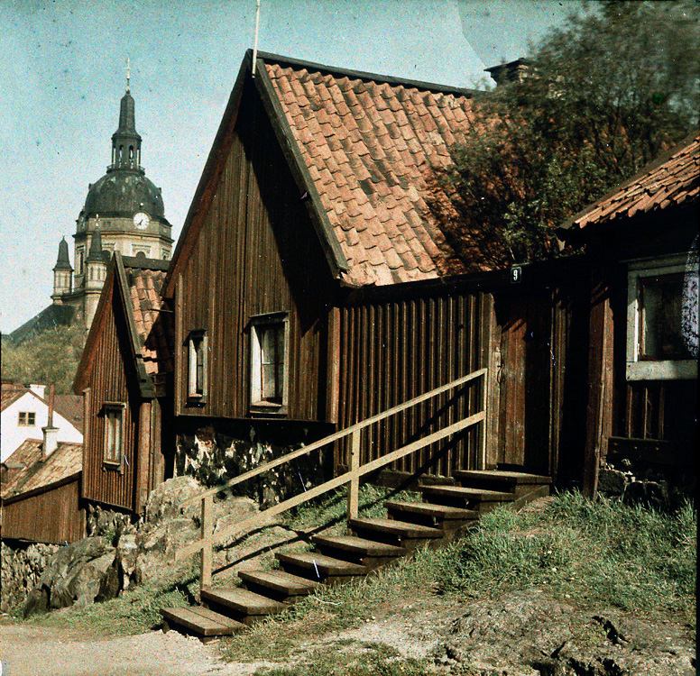 1929 Stockholm Sandbacksgatan f.d. Stigbergsgatan в сторону церкви Катарины by Gustaf Cronquist