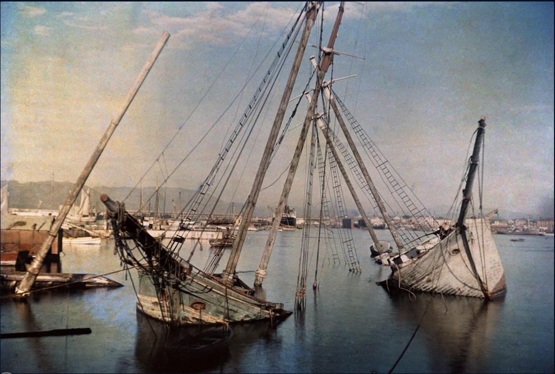 1929 Испания. Кладбище кораблей в Малаге (март)