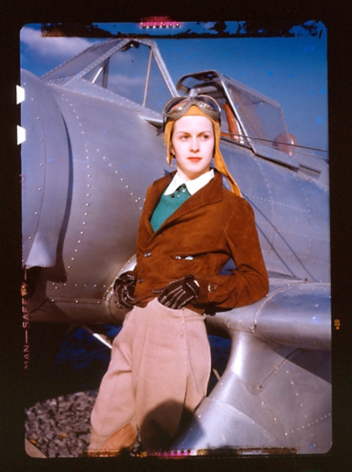 unknown female aviator in Rochester New York 1939 by Albert K Wittmer