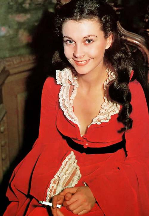 Vivien Leigh on the set of Gone With the Wind (1939)