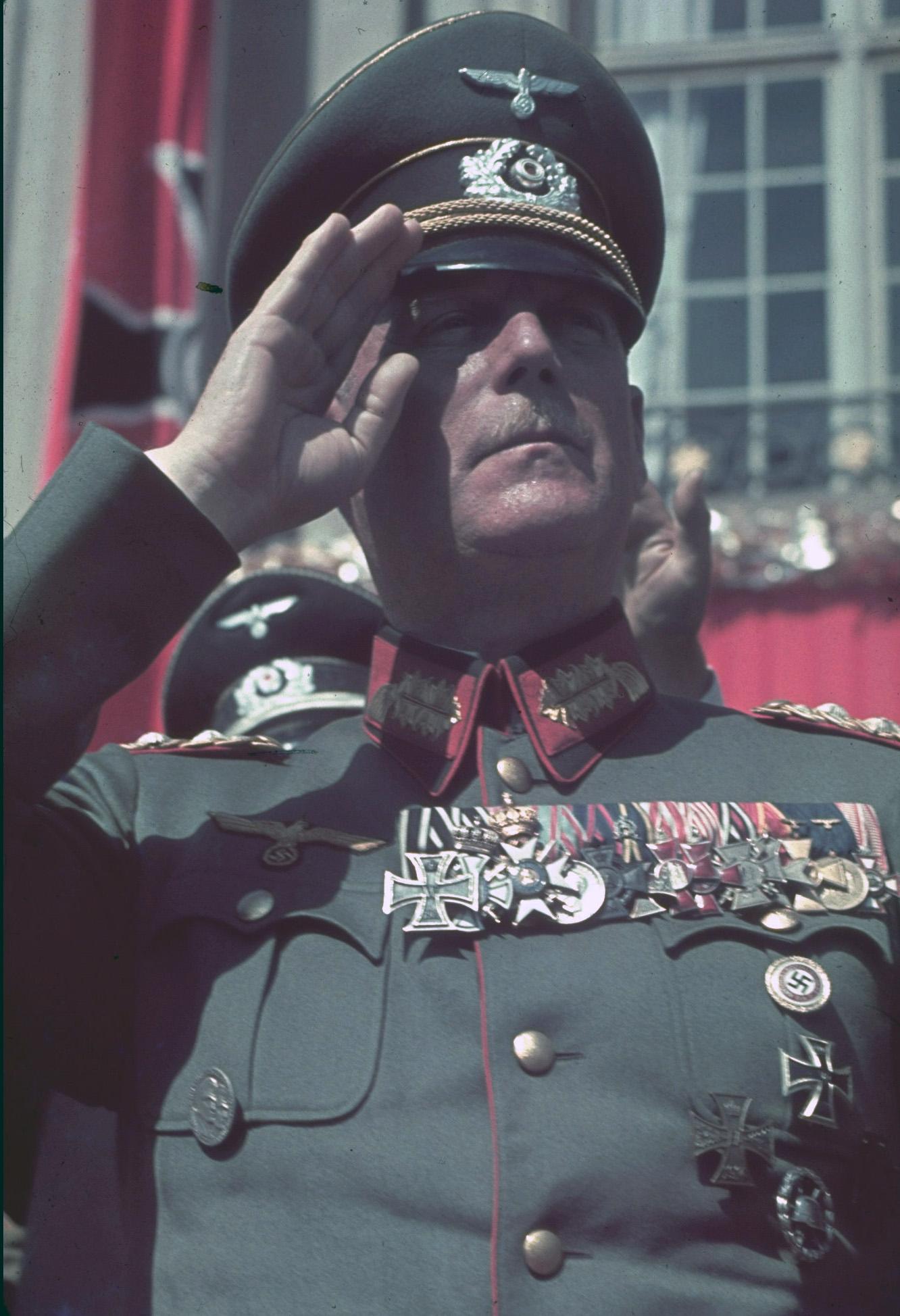 1939 Keitel on Reichs Veterans Day by Hugo Jaeger