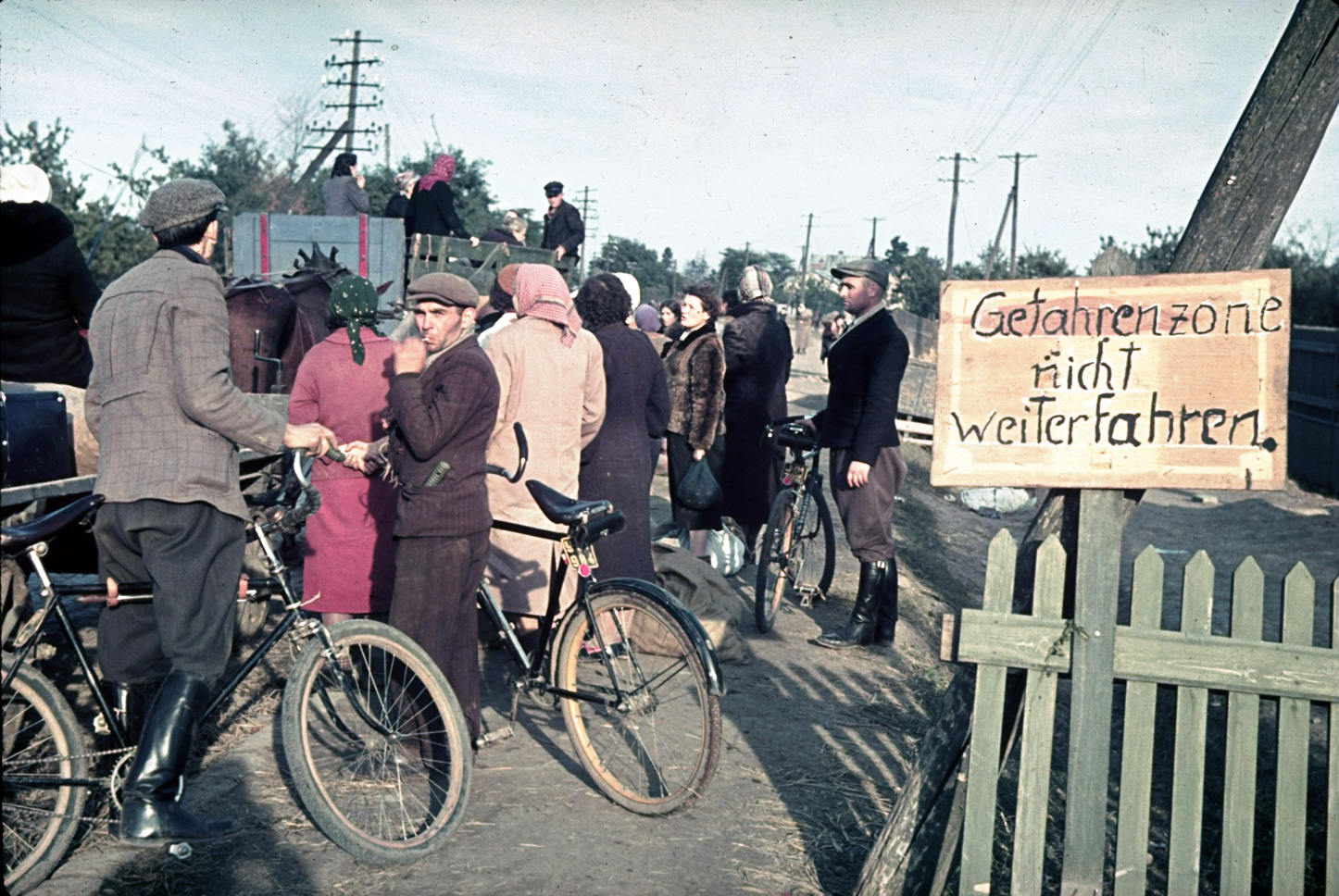 Refugees near Warsaw during the 1939 German invasion of Poland