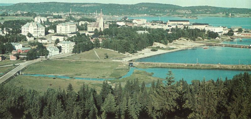 1939 год. Сортавала. Вид с обзорной башни Кухавуори
