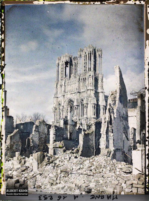 February 26, 1919 Reims, Champagne, France by Paul Castelnau