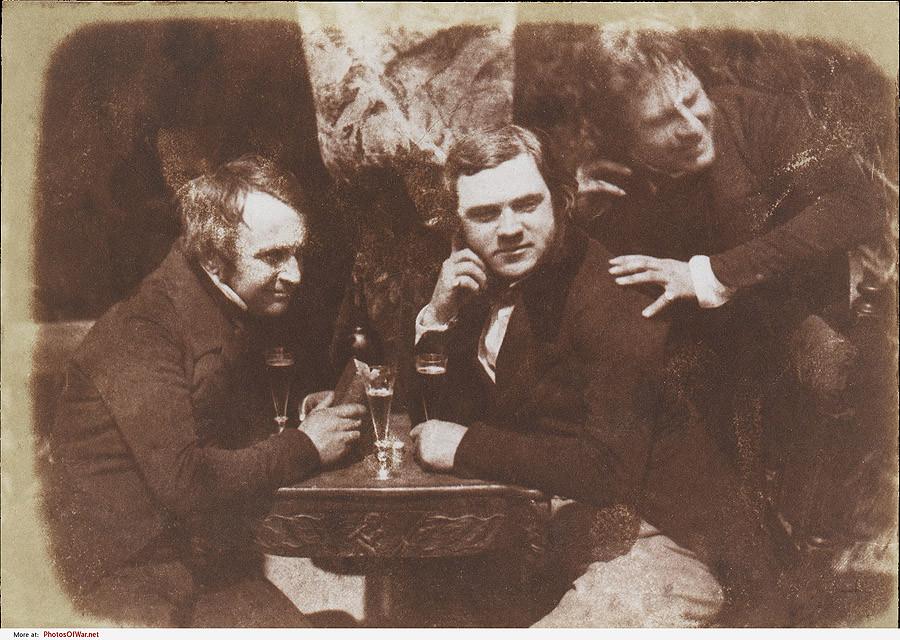 1844 Самая первая из известных фотографий, на которых человек пьёт пиво, эдинбургский эль