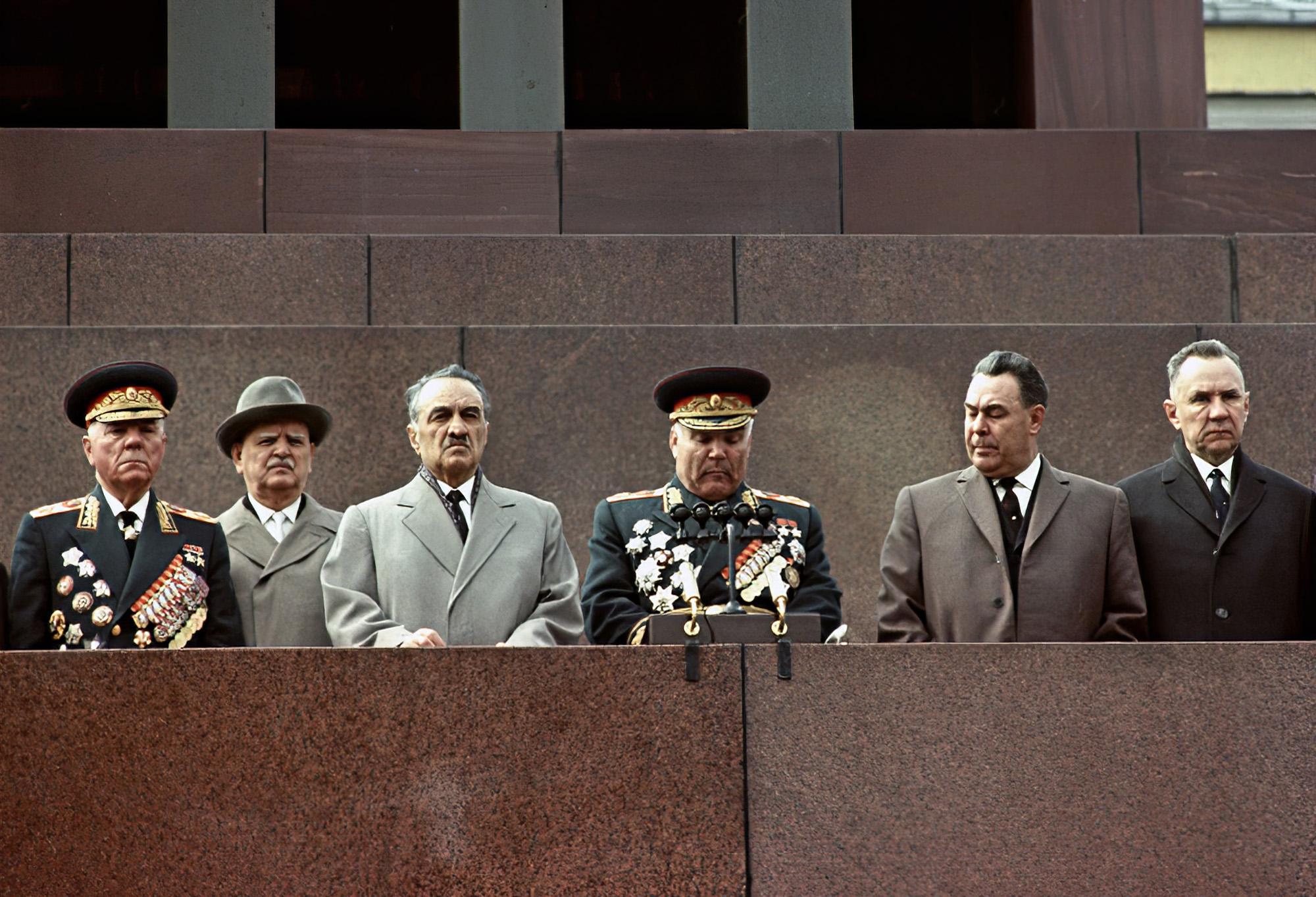 1965 На параде 9 мая. Василий Малышев