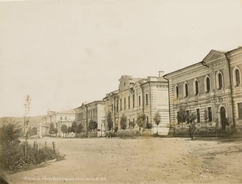 1884 Верный. Дворцовая площадь. Дом губернатора. Гимназия. 1887