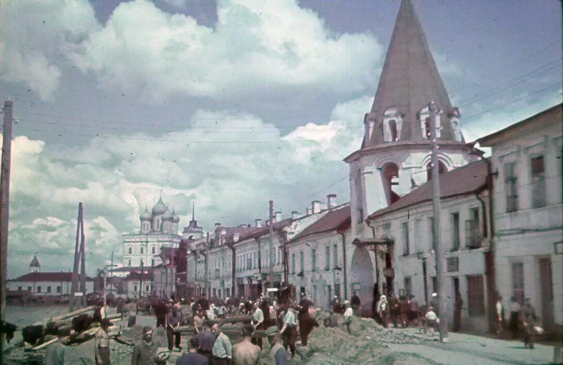 1941-43 Псков. Советская улица
