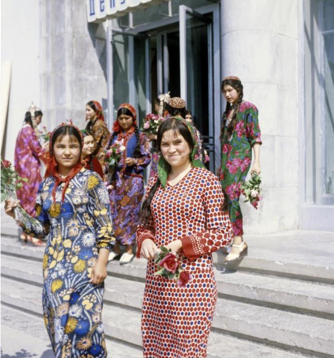 Туркменские студентки 1970