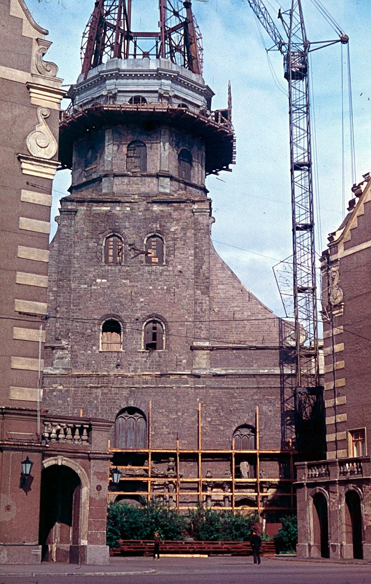 1970 Рига. Восстановление собора Святого Петра Людмила Николаевна Пущина
