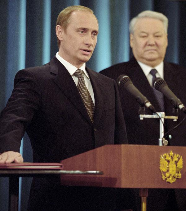 Владимир Путин приносит присягу Президента Российской Федерации, 7 мая 2000 года. РИА Новости. Владимир Родионов2