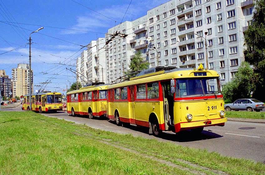 2000 Рига, списаны последние Skoda 9Tr, выпускавшиеся до 1982 г., самый массовый троллейбус мира