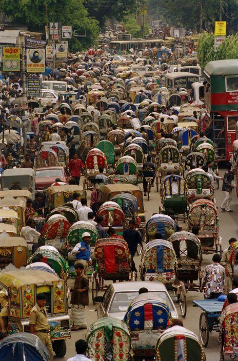 2000 Dhaka Normal traffic congestion on the Mirpur Road in the Dhanmondi area of Dhaka