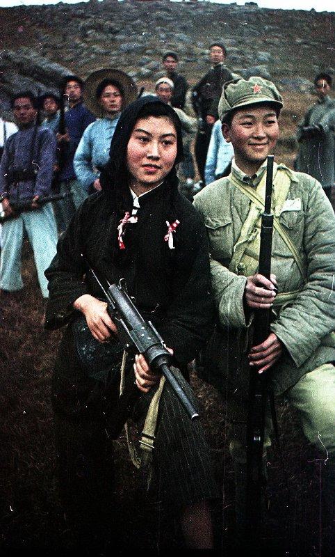 1949 КНР.  Партизаны