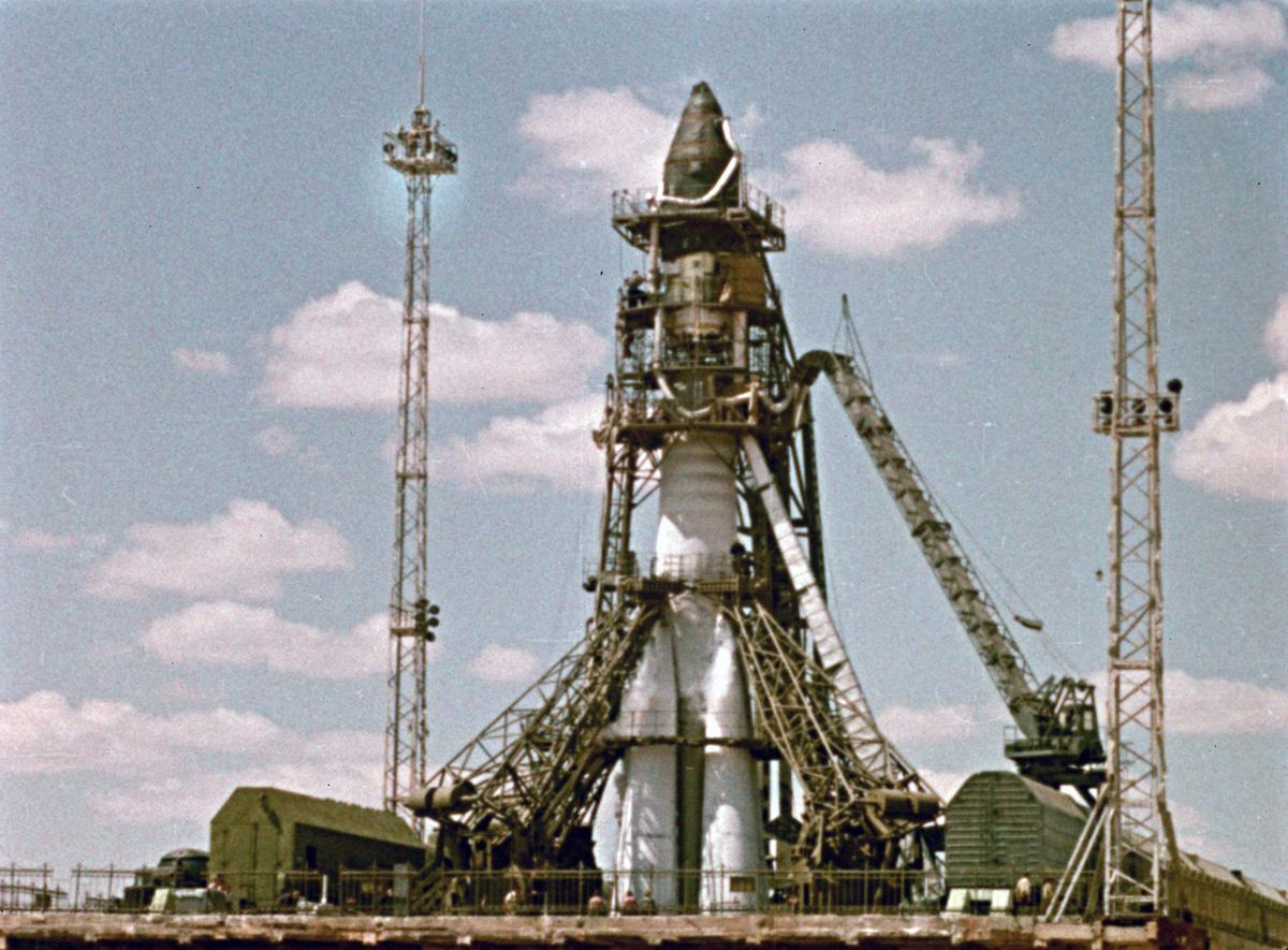 1960 ракета на старте