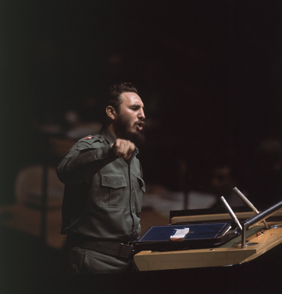 Речь Кастро Когда исчезнет философия грабежа, тогда исчезнет и философия войны на 15-й сессии ГА ООН 27 сентября 1960 длилась 4 часа 29 мин. Она вошла в книгу рекордов Гиннесса как самая длинная в истории ООН