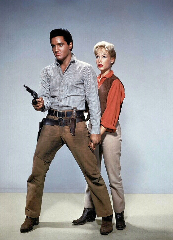 1960_film_flaming_star_Elvis Presley and Barbara Eden