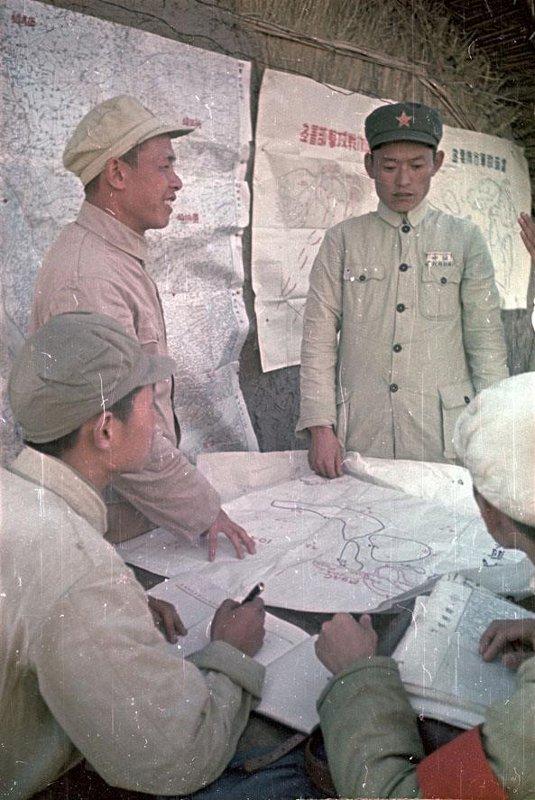 1949 Поход Народно-освободительной армии (НОА) Китая. Полевой штаб армии за работой2