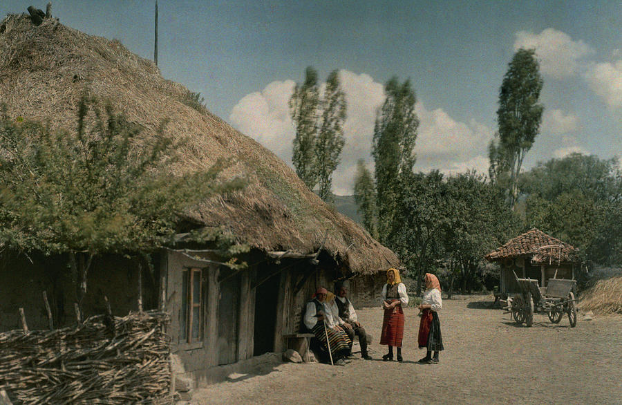 1930 Peasants outside home located on the field of 1389 Battle of Kosovo hans-hildenbrand