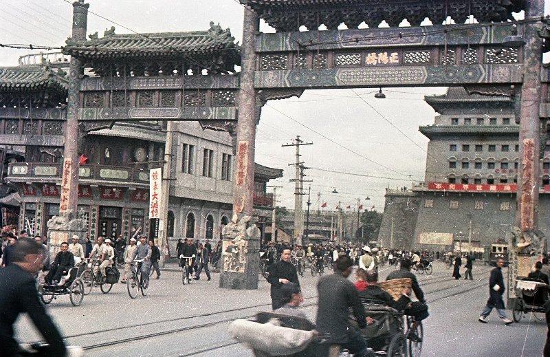 1949 Beijing. Микоша. В районе железнодорожного вокзала