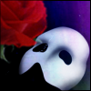 phantom mask and rose