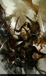 Spartacus,  by Wenjun  Lin, http://junc0520.cgsociety.org/gallery/970759