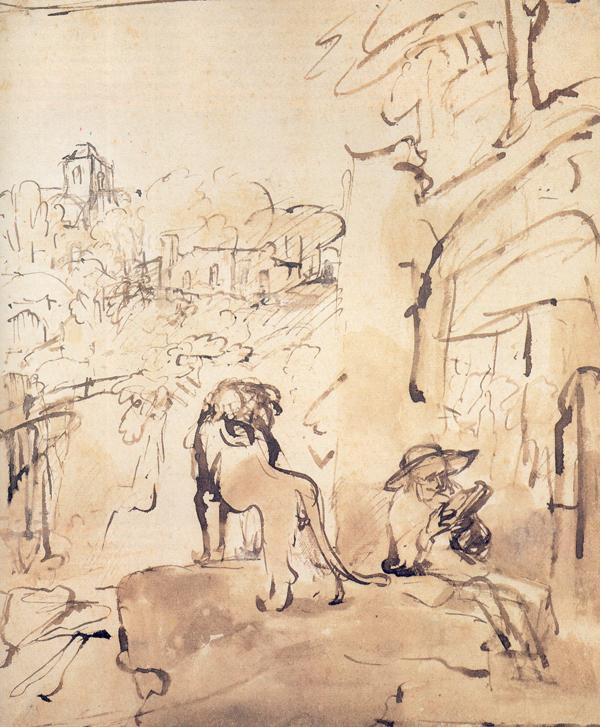 Rembrandt van Rijn_St. Jerome Reading in a Landscape