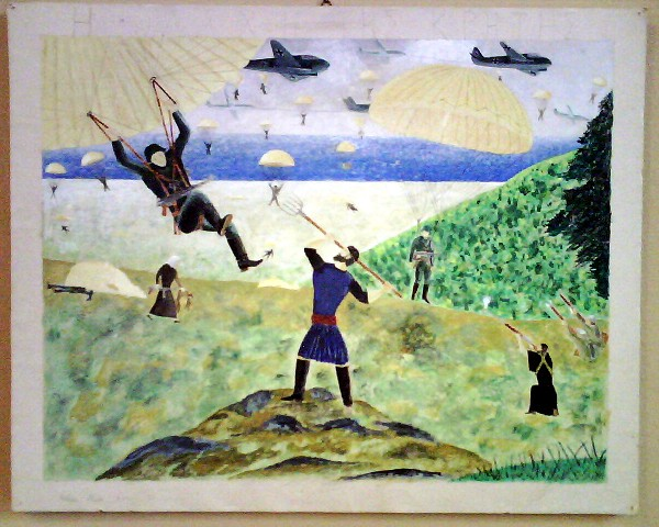 Chania Nautical Museum, The battle of Crete 1941, Child's draving