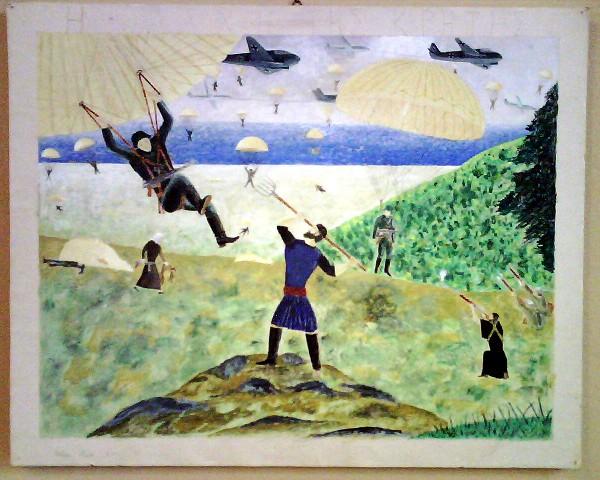 Chania Nautical Museum, The battle of Crete 1941, Child's draving
