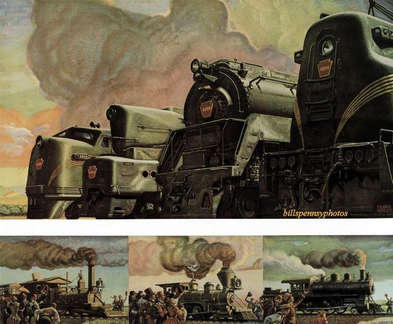 1946. Сто лет линейке из четырех современных локомотивов; также три исторические сцены 19 века.