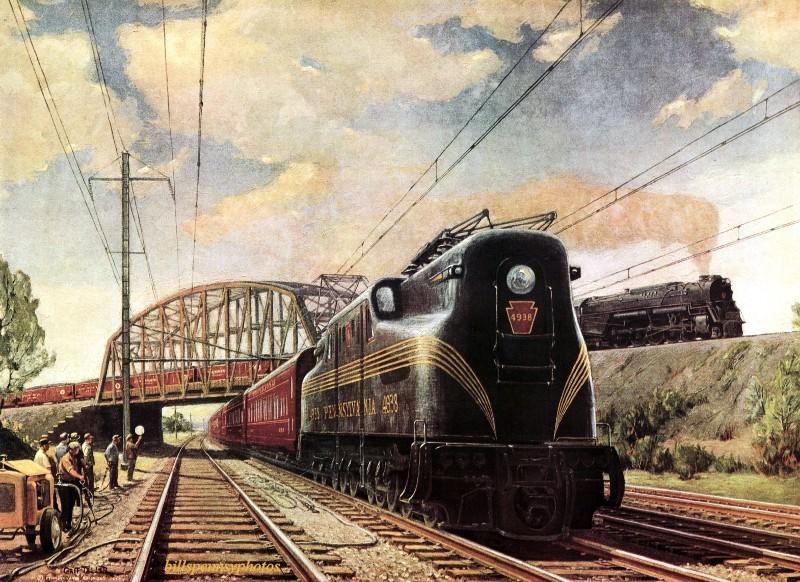 1949. Магистральные линии - грузовые и пассажирские. Пенсильвания.