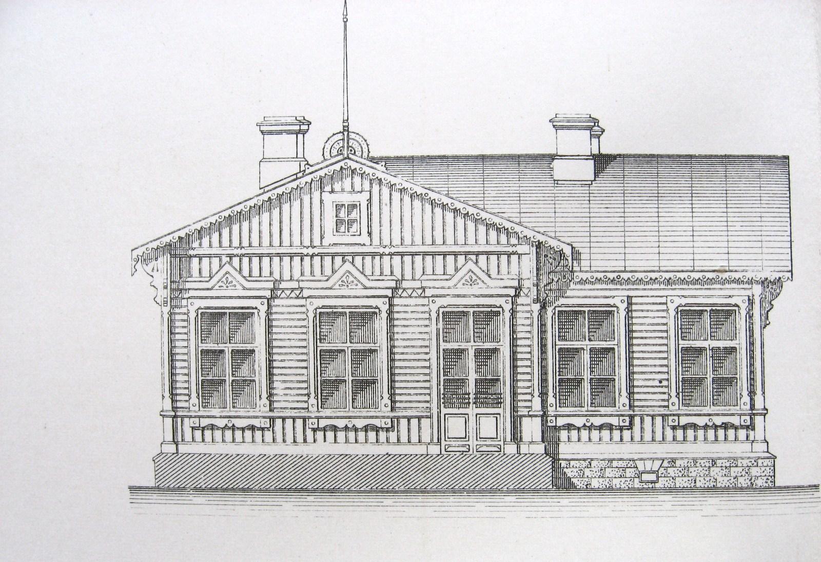 12. Типовое пассажирское здание для станций V класса. Проект.