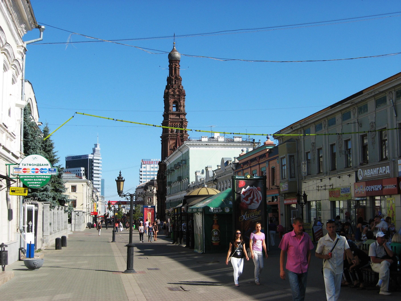 35. Пешеходная улица Баумана. Вид в сторону площади Тукая.