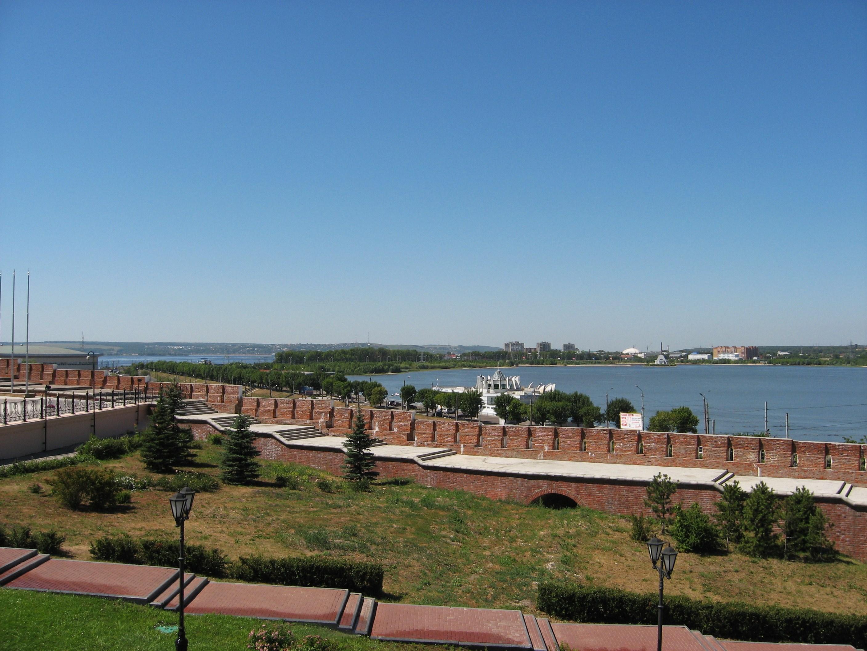12. Вид на реку Казанку от Кремля.