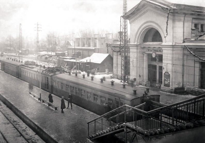 8. Электросекция на станции Мытищи. 1930-е гг.