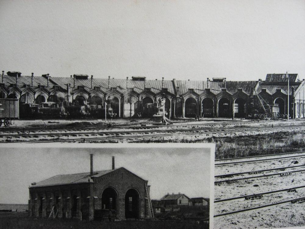 39. Паровозные здания. Вверху-Новосокольники, внизу-Новоиерусалимская.